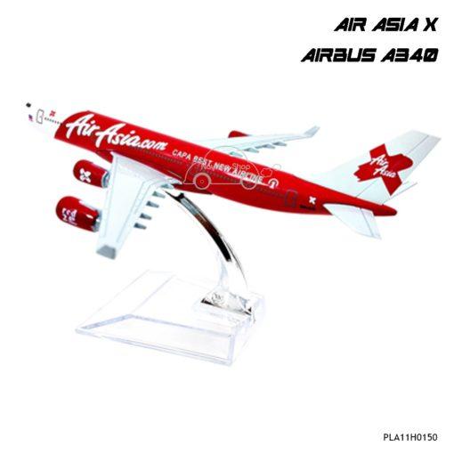โมเดลเครื่องบิน AIR ASIA X A340 พร้อมฐาน