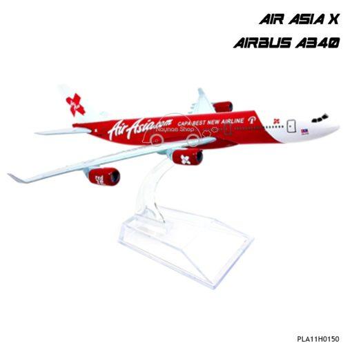 โมเดลเครื่องบิน AIR ASIA X AIRBUS A340 ประกอบสำเร็จ
