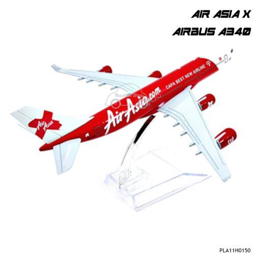 โมเดลเครื่องบิน AIR ASIA X AIRBUS A340 พร้อมฐาน