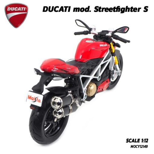 โมเดลดูคาติ Ducati StreetFighter (Scale 1:12) โมเดลประกอบสำเร็จ โช๊คอัพกดขึ้นลงได้สมจริง
