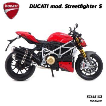โมเดลดูคาติ Ducati StreetFighter (Scale 1:12) รถโมเดลจำลองพร้อมตั้งโชว์ ของขวัญของสะสม