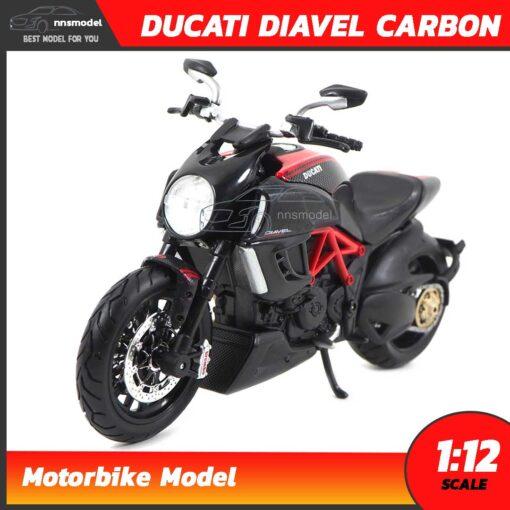 โมเดลมอเตอร์ไซด์ DUCATI DIAVEL CARBON สีดำแดง (Scale 1:12)