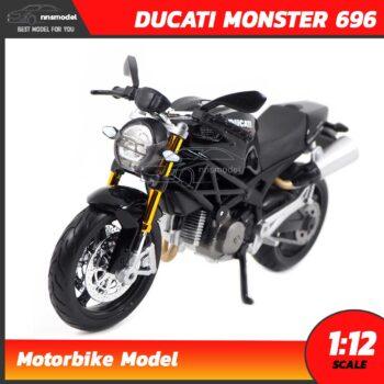โมเดลบิ๊กไบค์ DUCATI MONSTER 696 สีดำ (Scale 1:12)