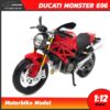 โมเดลบิ๊กไบค์ DUCATI MONSTER 696 สีแดง (Scale 1:12)