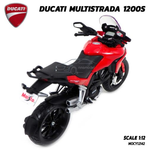 โมเดลบิ๊กไบค์ DUCATI MULTISTRADA 1200S สีแดงดำ (Scale 1:12) โมเดลดูคาติ ประกอบสำเร็จ แบรนด์ Maisto