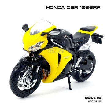 โมเดลบิ๊กไบค์ HONDA CBR 1000RR สีเหลืองดำ (Scale 1:12)