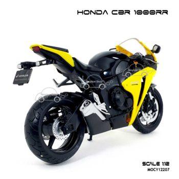 โมเดลบิ๊กไบค์ HONDA CBR 1000RR สีเหลืองดำ (Scale 1:12) ประกอบสำเร็จ