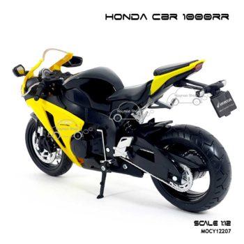 โมเดลบิ๊กไบค์ HONDA CBR 1000RR สีเหลืองดำ (Scale 1:12) โมเดลจำลองเหมือนจริง