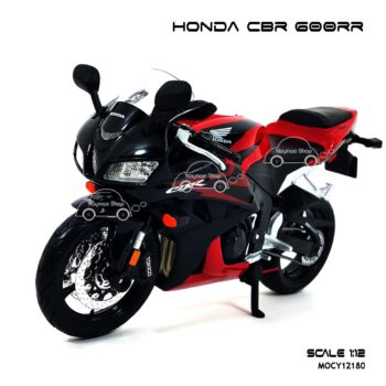 โมเดลบิ๊กไบค์ HONDA CBR 600RR สีแดงดำ (1:12) โมเดลสำเร็จ