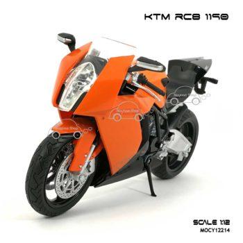 โมเดลบิ๊กไบค์ KTM RC8 1190 สีส้ม (Scale 1:12)