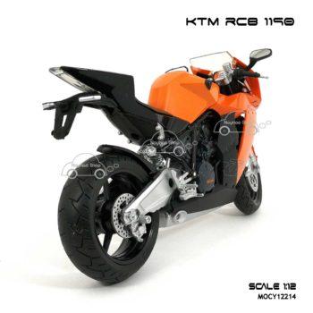 โมเดลบิ๊กไบค์ KTM RC8 1190 สีส้ม (Scale 1:12) ประกอบสำเร็จ