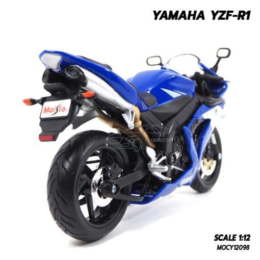 โมเดลบิ๊กไบค์ YAMAHA YZF-R1 สีน้ำเงิน (1:12) โมเดลประกอบสำเร็จ