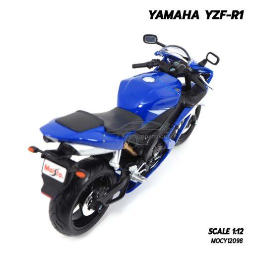 โมเดลบิ๊กไบค์ YAMAHA YZF-R1 สีน้ำเงิน (1:12) โมเดลประกอบสำเร็จ พร้อมตั้งโชว์