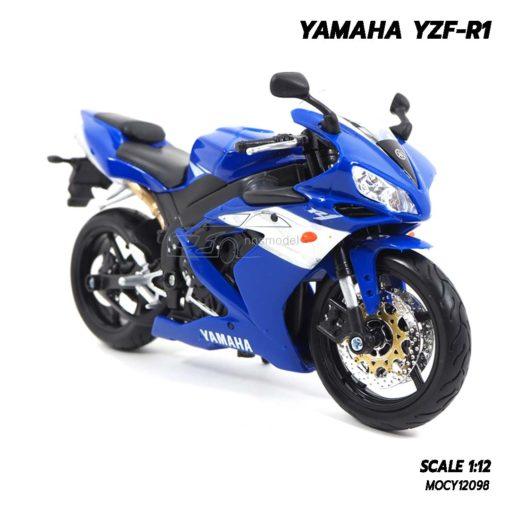 โมเดลบิ๊กไบค์ YAMAHA YZF-R1 สีน้ำเงิน (1:12) โมเดลประกอบสำเร็จ ผลิตโดยแบรนด์ Maisto