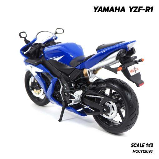โมเดลบิ๊กไบค์ YAMAHA YZF-R1 สีน้ำเงิน (1:12) โมเดลมอเตอร์ไซด์ จำลองเหมือนจริง