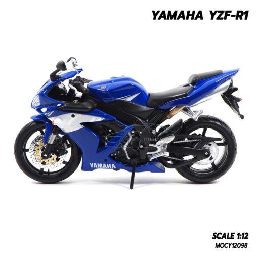 โมเดลบิ๊กไบค์ YAMAHA YZF-R1 สีน้ำเงิน (1:12) โมเดลมอเตอร์ไซด์ ประกอบสำเร็จ