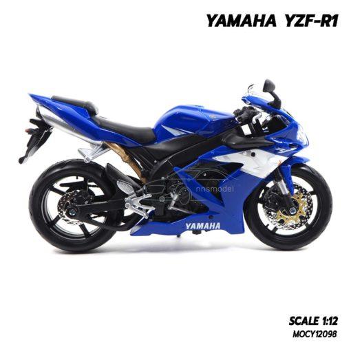 โมเดลบิ๊กไบค์ YAMAHA YZF-R1 สีน้ำเงิน (1:12) โมเดลมอเตอร์ไซด์ ประกอบสำเร็จ พร้อมตั้งโชว์