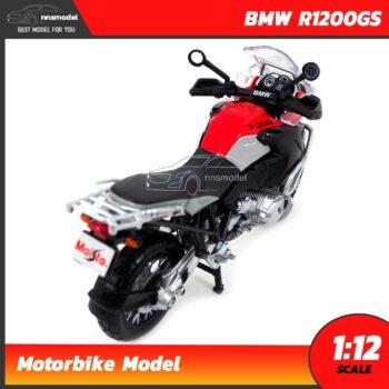 โมเดลมอเตอร์ไซด์ BMW R1200GS สีแดงดำ (Scale 1:12) โมเดลรถทัวร์ริ่ง โมเดลจำลองสมจริง