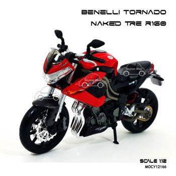 โมเดลมอเตอร์ไซด์ Benelli Tornado Naked Tre R160 (1:12) โมเดลประกอบสำเร็จ