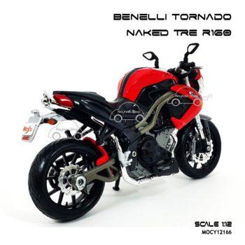 โมเดลมอเตอร์ไซด์ Benelli Tornado Naked Tre R160 (1:12) โมเดลของแท้