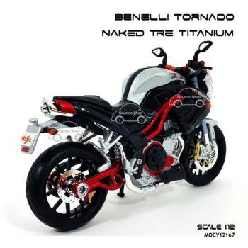 โมเดลมอเตอร์ไซด์ Benelli Tornado Naked Tre Titanium (1:12)