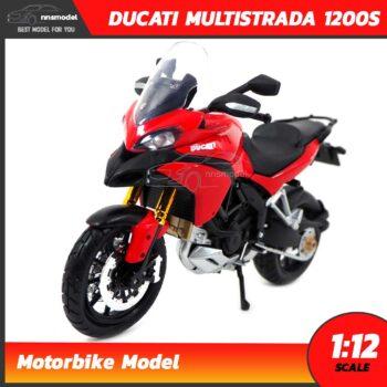 โมเดลมอเตอร์ไซด์ DUCATI MULTISTRADA 1200S สีแดงดำ