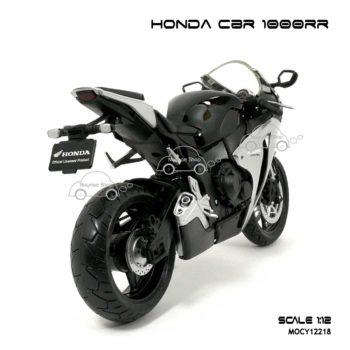 โมเดลมอเตอร์ไซด์ HONDA CBR 1000RR สีดำบรอนด์ (Scale 1:12) ประกอบสำเร็จ