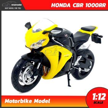 โมเดลมอเตอร์ไซด์ HONDA CBR 1000RR สีเหลืองดำ (Scale 1:12)