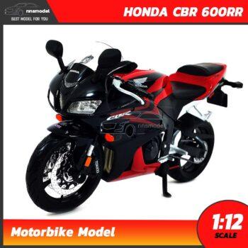 โมเดลมอเตอร์ไซด์ HONDA CBR 600RR สีแดงดำ (Scale 1:12)