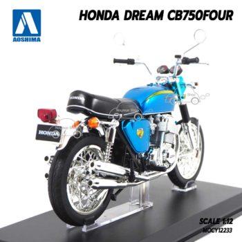 โมเดลมอเตอร์ไซด์ HONDA DREAM CB750 Aoshima สีฟ้า (1:12) มอเตอร์ไซด์คลาสสิคสวยๆ