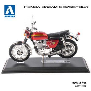 โมเดลมอเตอร์ไซด์ HONDA DREAM CB750 สีแดง (1:12) แบรนด์ Aoshima