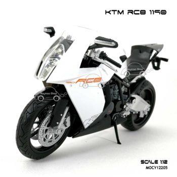 โมเดลรถบิ๊กไบค์ KTM RC8 1190 สีขาว (Scale 1:12)