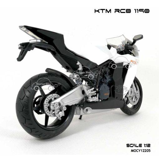 โมเดลรถบิ๊กไบค์ KTM RC8 1190 สีขาว (Scale 1:12) ประกอบสำเร็จ