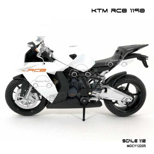โมเดลรถบิ๊กไบค์ KTM RC8 1190 สีขาว (Scale 1:12) โมเดลลิขสิทธิแท้