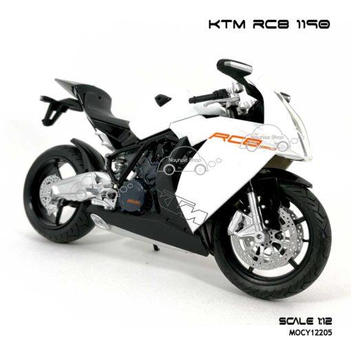 โมเดลรถบิ๊กไบค์ KTM RC8 1190 สีขาว (Scale 1:12) น่าสะสม