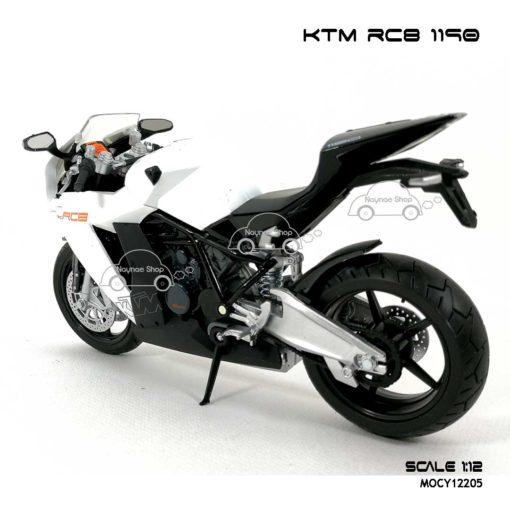 โมเดลรถบิ๊กไบค์ KTM RC8 1190 สีขาว (Scale 1:12) โมเดลพร้อมตั้งโชว์
