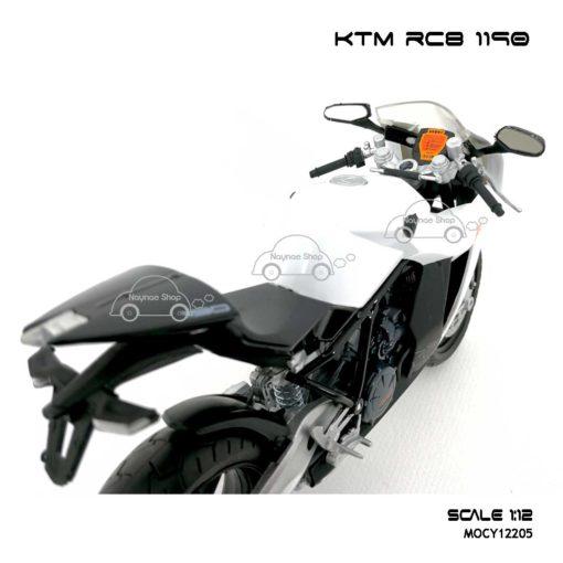 โมเดลรถบิ๊กไบค์ KTM RC8 1190 สีขาว (Scale 1:12) โมเดลเหมือนรถจริง