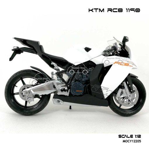 โมเดลรถบิ๊กไบค์ KTM RC8 1190 สีขาว (Scale 1:12) โมเดลของแท้