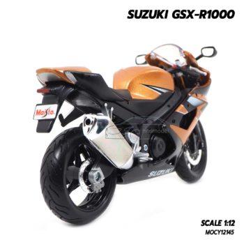 โมเดลรถบิ๊กไบค์ SUZUKI GSX-R1000 สีน้ำตาล (Scale 1:12) โมเดลประกอบสำเร็จ พร้อมตั้งโชว์