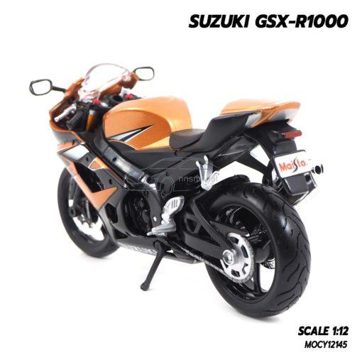 โมเดลรถบิ๊กไบค์ SUZUKI GSX-R1000 สีน้ำตาล (Scale 1:12) โมเดลบิ๊กไบค์ สวยๆ