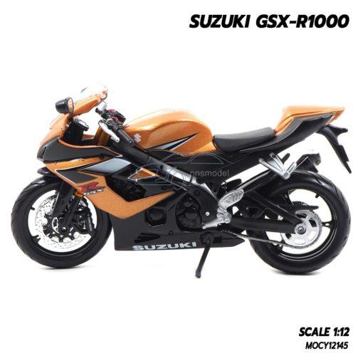 โมเดลรถบิ๊กไบค์ SUZUKI GSX-R1000 สีน้ำตาล (Scale 1:12) โมเดลมอเตอร์ไซด์สมจริง