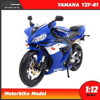 โมเดลรถบิ๊กไบค์ YAMAHA YZF-R1 สีน้ำเงิน (Scale 1:12) Maisto