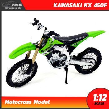 โมเดลรถวิบาก KAWASAKI KX 450F สีเขียว (Scale 1:12)
