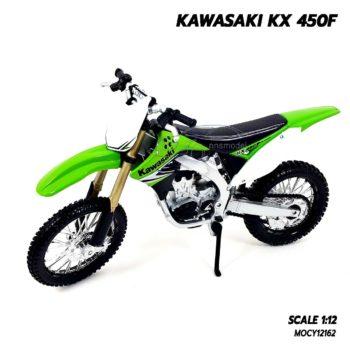 โมเดลรถวิบาก KAWASAKI KX 450F (1:12) โมเดลมอเตอร์ไซด์ โช๊คอัพกดขึ้นลงได้