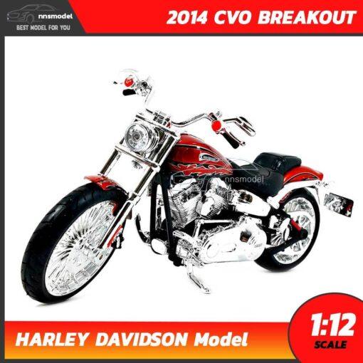 โมเดลฮาเล่ย์ HARLEY DAVIDSON CVO BREAKOUT 2014 (1:12) โมเดลรถสะสม Maisto