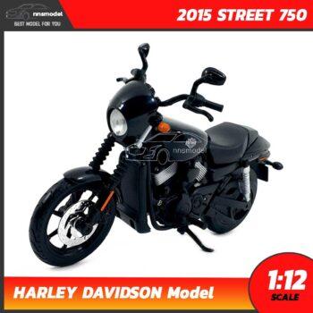 โมเดลฮาเล่ย์ HARLEY DAVIDSON STREET 750 2015 สีดำ (1:12)