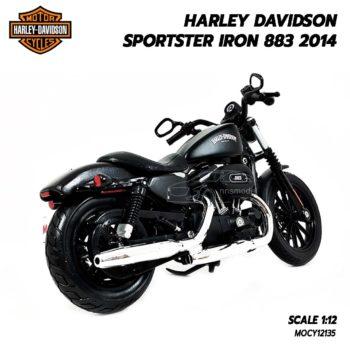 โมเดลฮาเล่ย์ HARLEY SPORTSTER IRON 883 2014 (1:12) โมเดลรุ่นขายดี
