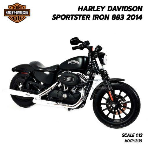 โมเดลฮาเล่ย์ HARLEY SPORTSTER IRON 883 2014 (1:12) โมเดลรถมอไซด์ Harley Davidson