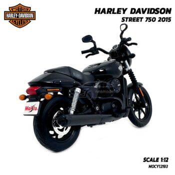 โมเดลฮาเล่ย์ HARLEY DAVIDSON STREET 750 2015 สีดำ (1:12) โมเดลประกอบสำเร็จ พร้อมตั้งโชว์