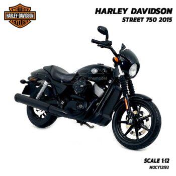 โมเดลฮาเล่ย์ HARLEY DAVIDSON STREET 750 2015 สีดำ (1:12) โมเดลรถฮาเล่ย์จำลองสมจริง
